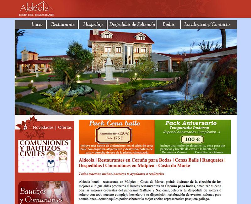 diseño de pagina web para hotel y restaurante