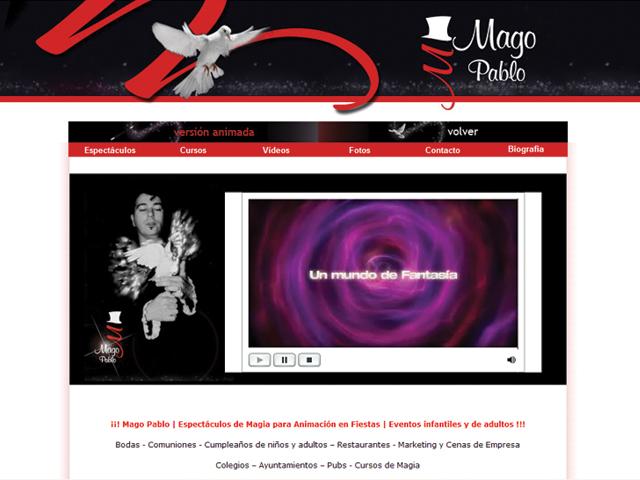 diseño pagina web para magos