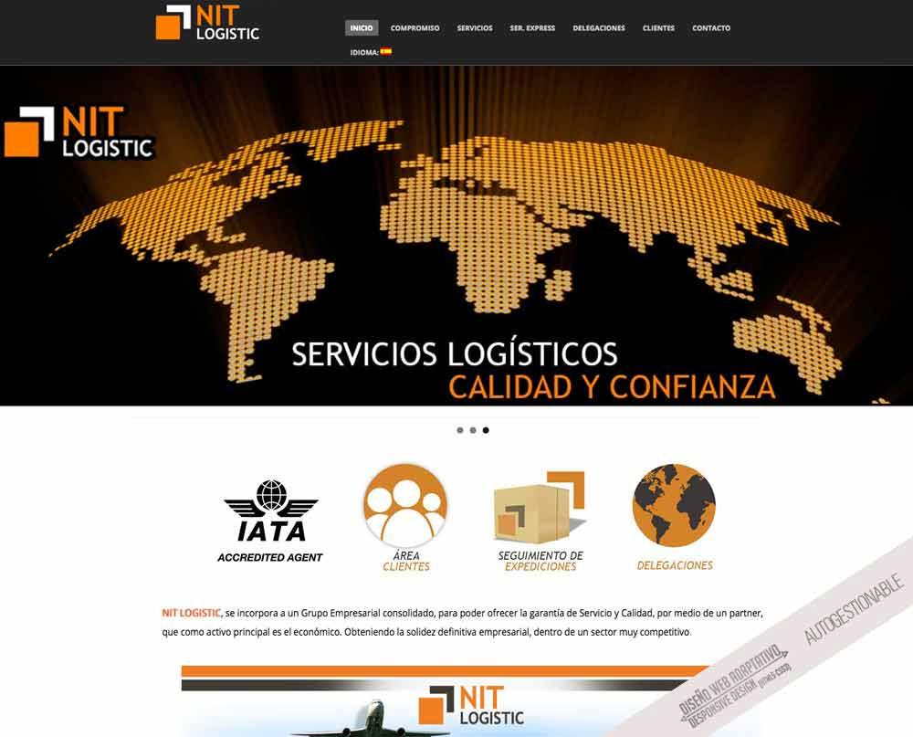 diseno web para empresa de logistica