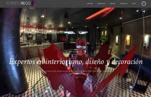 diseño de pagina web para estudio de interiorismo