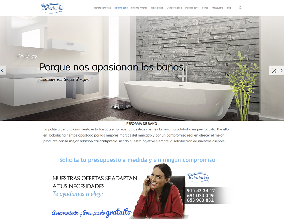 pagina web para empresa de reformas