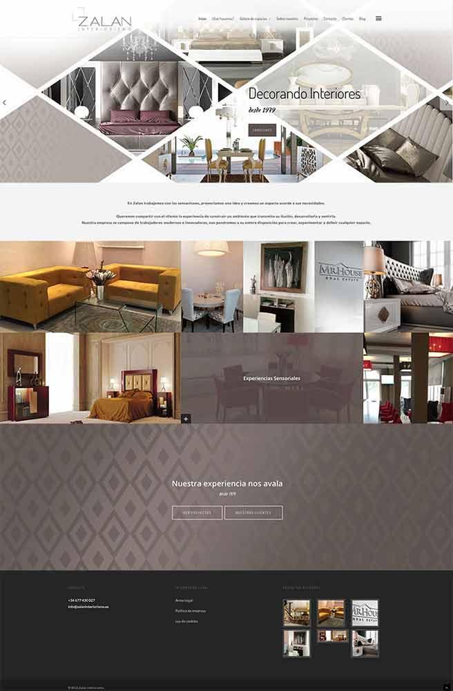 P gina web para interiorismo bluefactory studios for Paginas de interiorismo