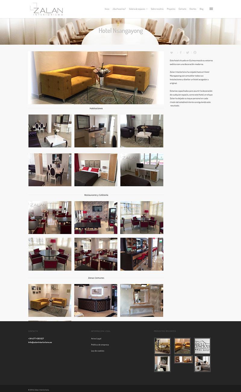 página web para interiorismo