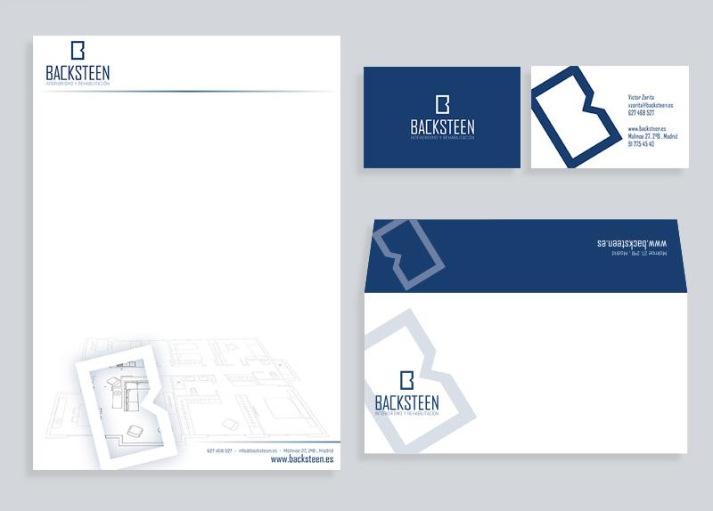 Papeleria profesional empresa diseño de interiores