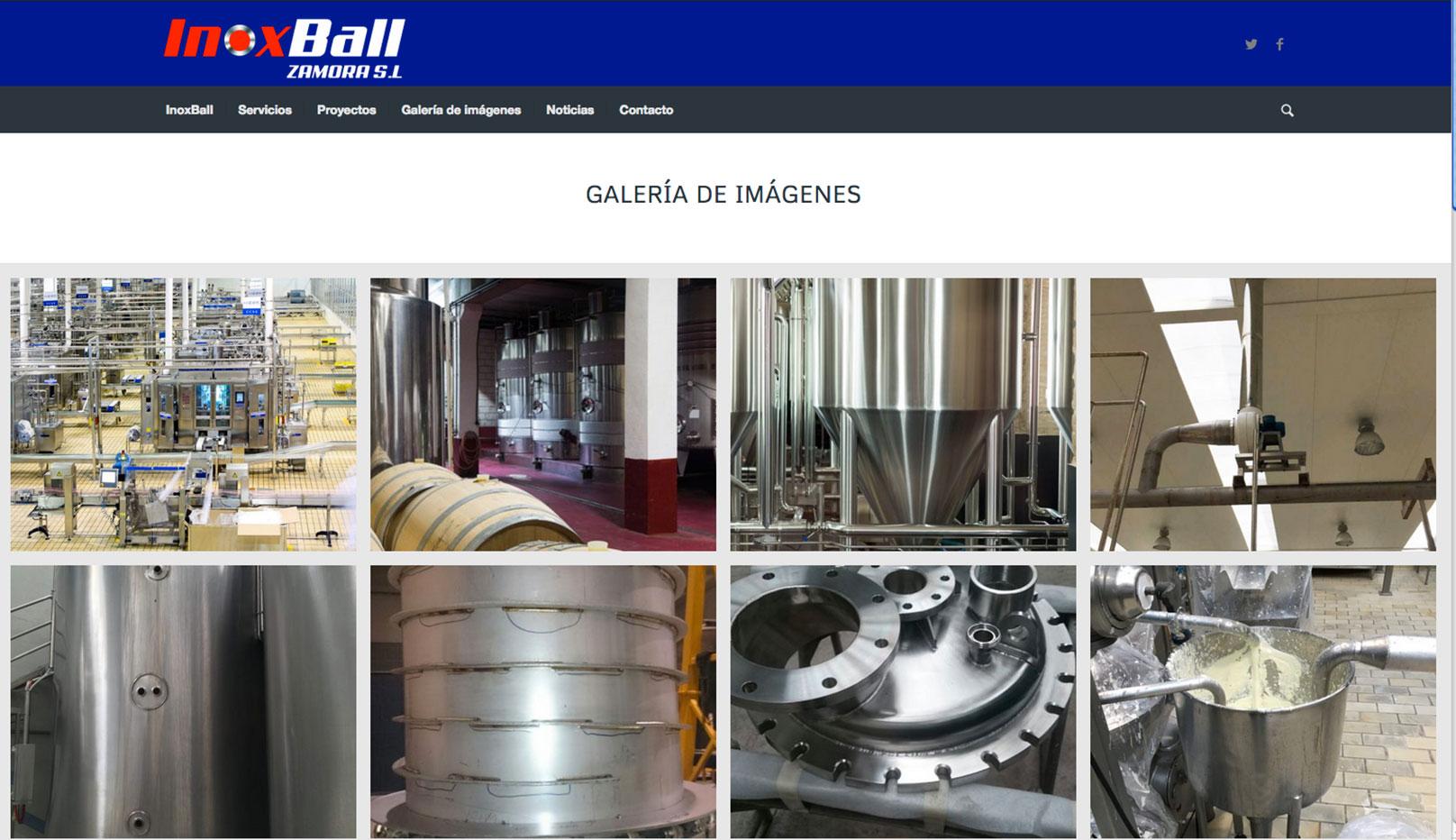 Página web carpintería metálica Inoxball