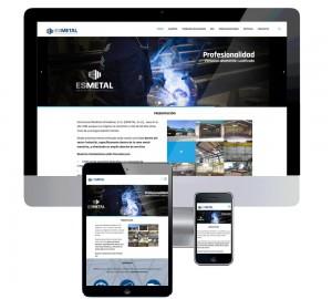 Página web para Esmetal - Estructuras metálicas