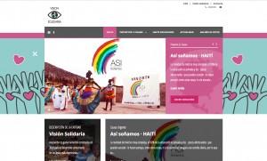 Página web ONG Visión Solidaria