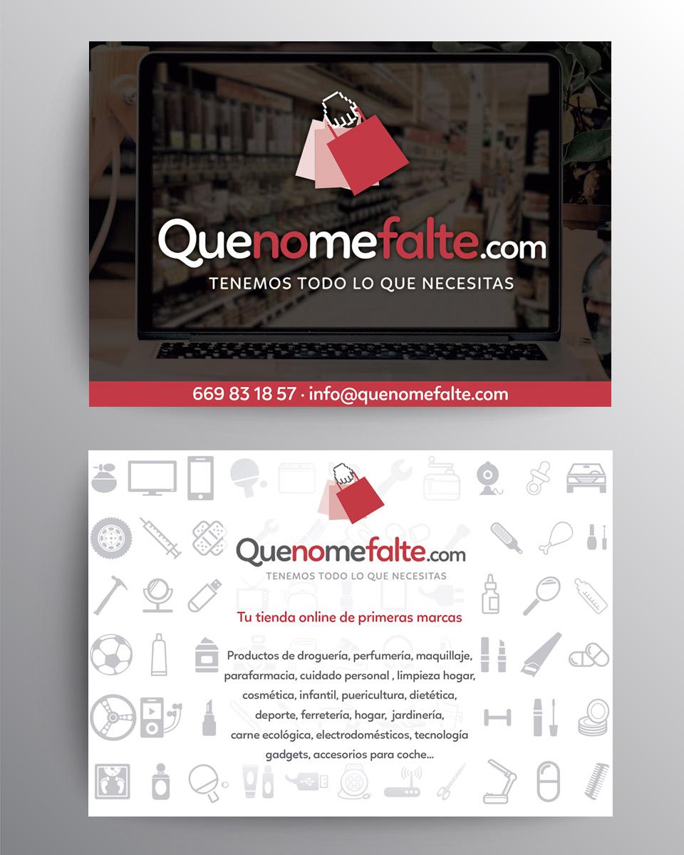 diseño de flyer para tienda online