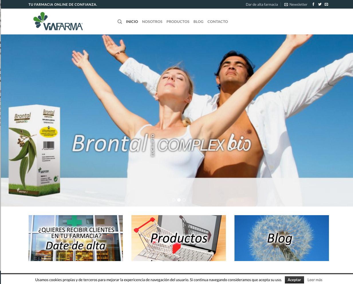 Diseño página web para farmacias