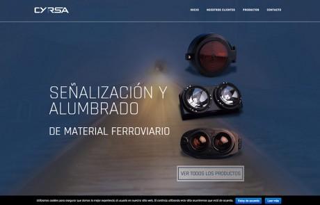 Página web para empresa ferroviaria