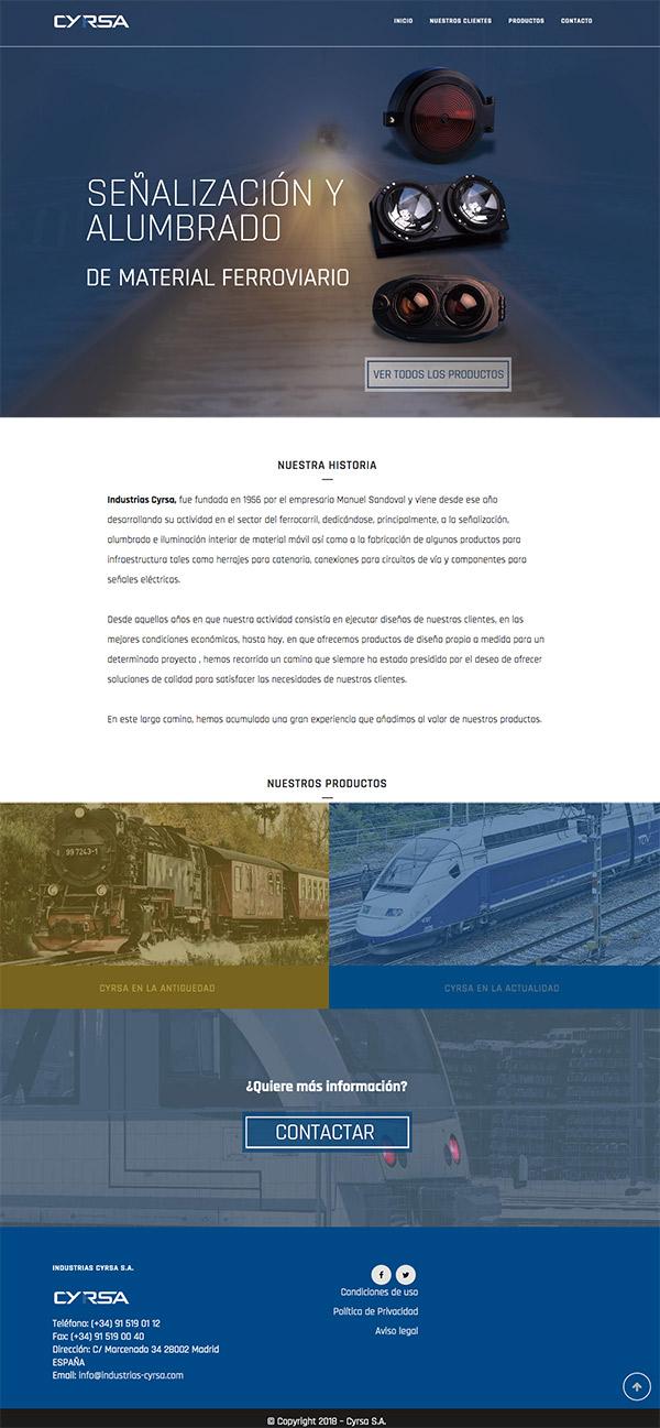 diseño de página web para empresa ferroviaria