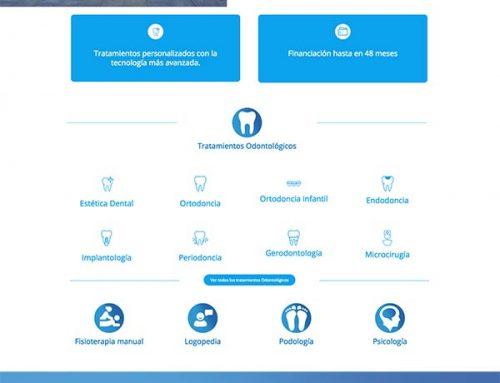 Diseño de página web para Clínica
