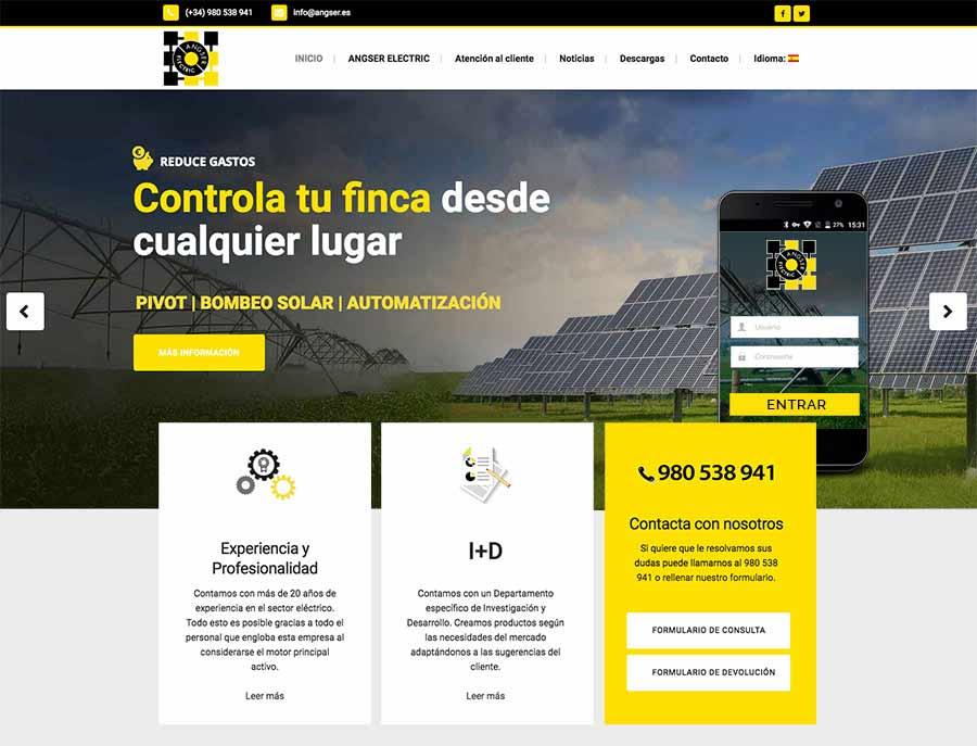 diseño de pagina web para empresa electrica